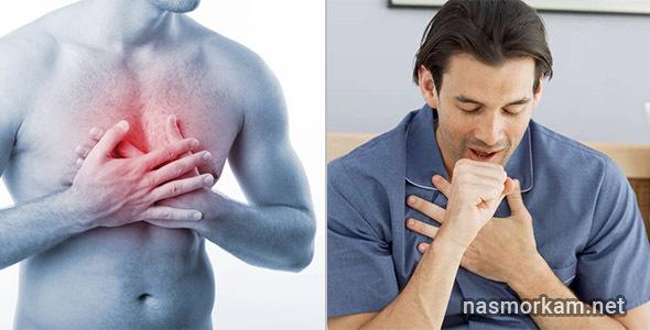 Боль в грудной клетке и затяжной кашель
